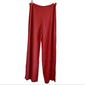 Zara high rise rust wide leg palazzo pants